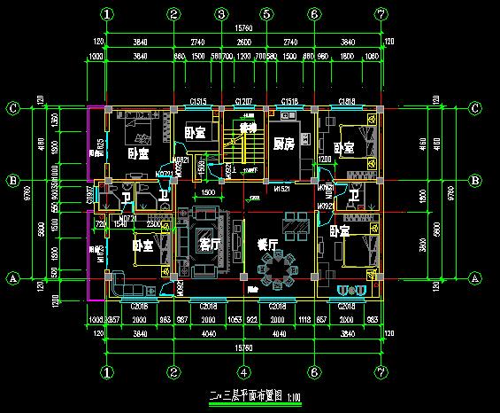 某框架结构住宅楼建筑结构全套图纸[原创]