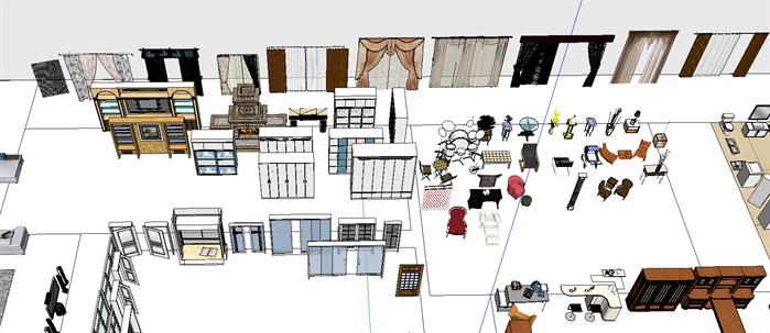 室内装饰常用素材su模型(4)