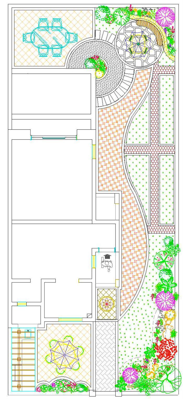 某欧式风格小庭院景观设计[原创]