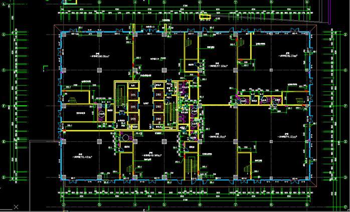 某高层综合办公楼建筑设计方案施工图(cad格式)[原创]