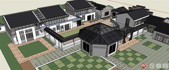 一套闽南风格幼儿园建筑设计SU模型,该模型制作精细,风格独特。将民族风格与幼儿园巧妙的结合了起来,值得下载、借鉴!