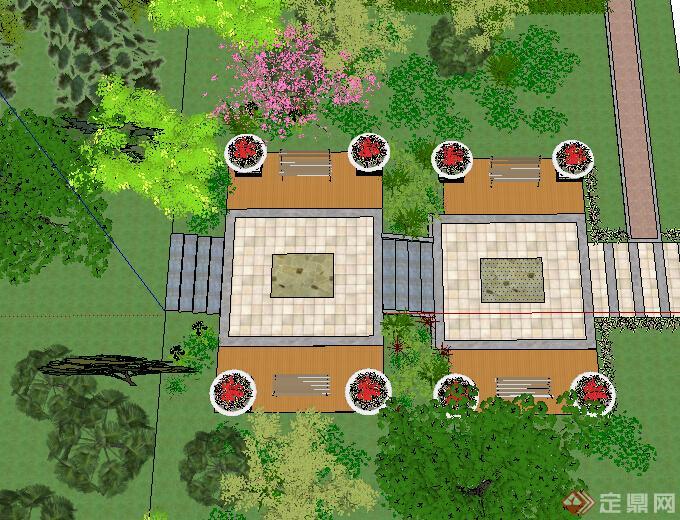 某公园节点景观设计方案su表现[原创]