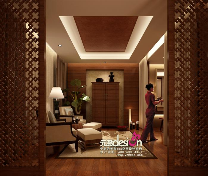 某东南亚风格美容会所装修设计方案效果图 3