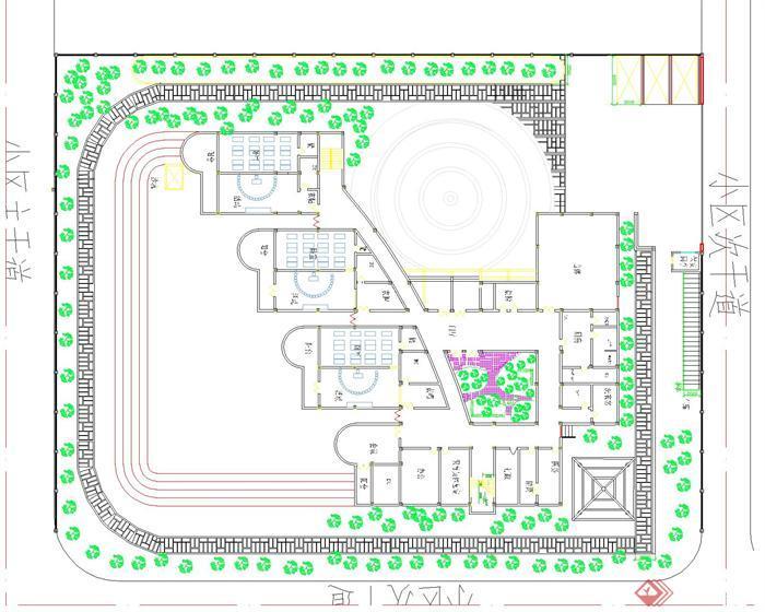 某现代幼儿园建筑设计方案平面图(3)