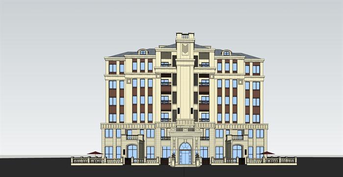 南京某欧式住宅建筑设计方案(含方案图+su模型)[原创