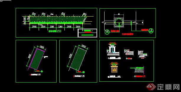 某花池cad方案设计(含部分施工图)