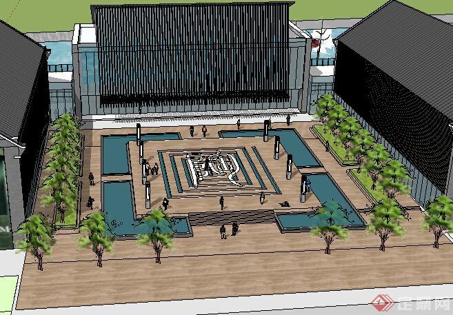 某现代湖滨公园景观设计方案效果图(2)