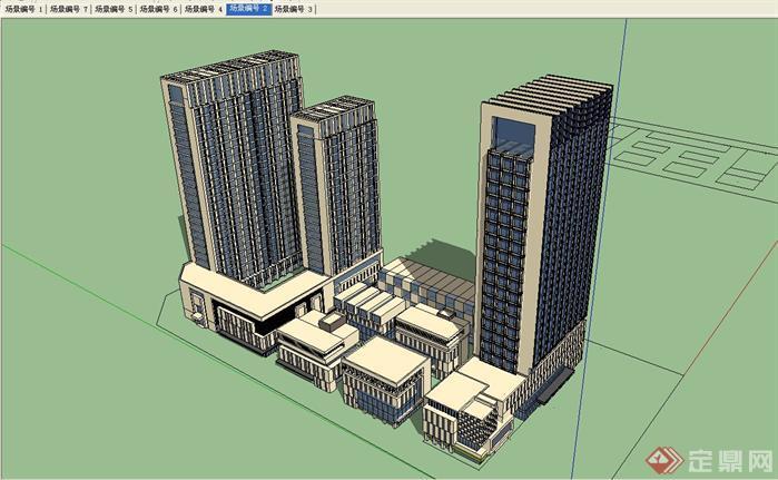 某现代酒店建筑设计方案su模型1