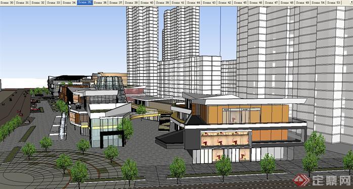 某现代商业中心建筑设计方案su模型