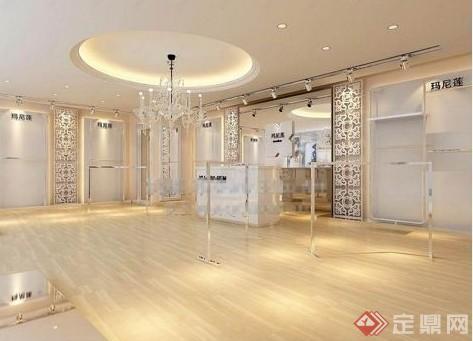 某欧式风格服装店展示空间装饰设计3dmax模型