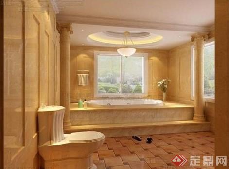 某现代风格住宅浴室室内设计3dmax模型