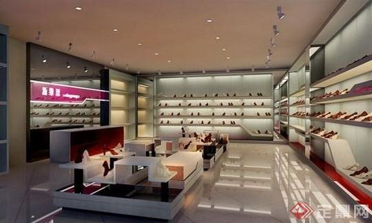 某商场鞋子专卖店设计max模型素材