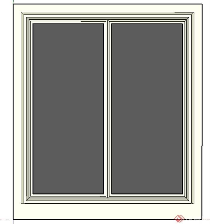 一个窗户su模型素材(2)