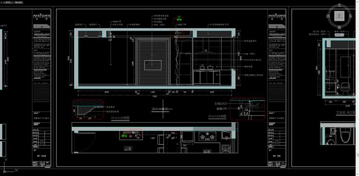 某单元房住宅楼室内设计cad施工图纸