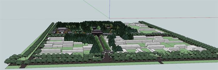 某古典中式风格旅游景区建筑方案规划设计su模型