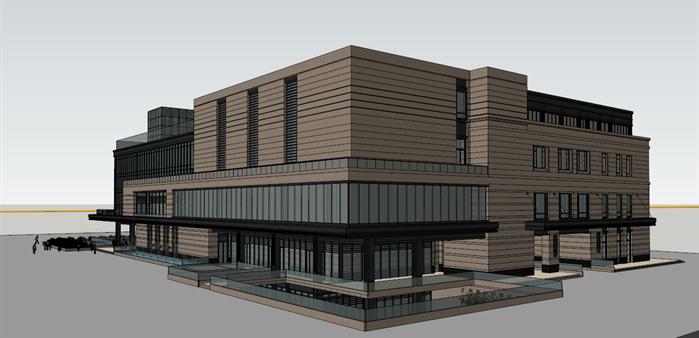 某简欧风格商业建筑设计su模型
