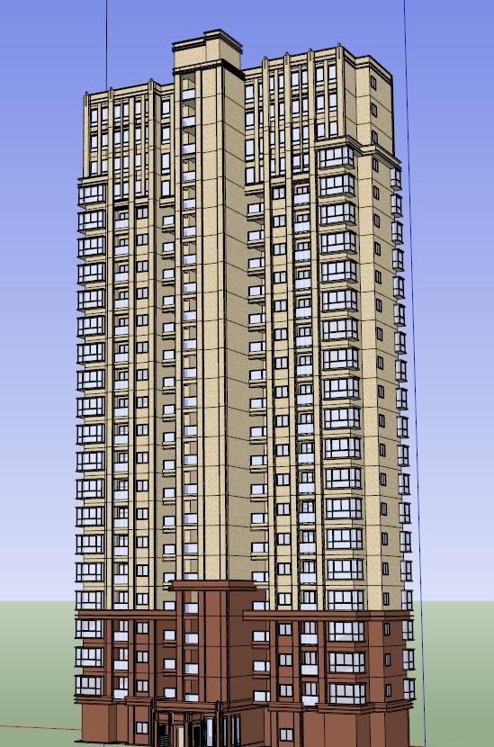 某简欧风格小区建筑景观整体规划方案[原创]