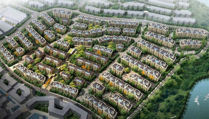 某欧式风格住宅小区建筑规划设计su模型 含效果图
