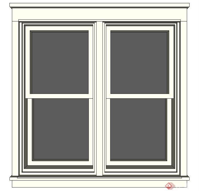 一个窗户su模型素材(7)