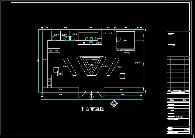 NIKE专卖店设计方案-160平-16张CAD图及4张效果图(3)