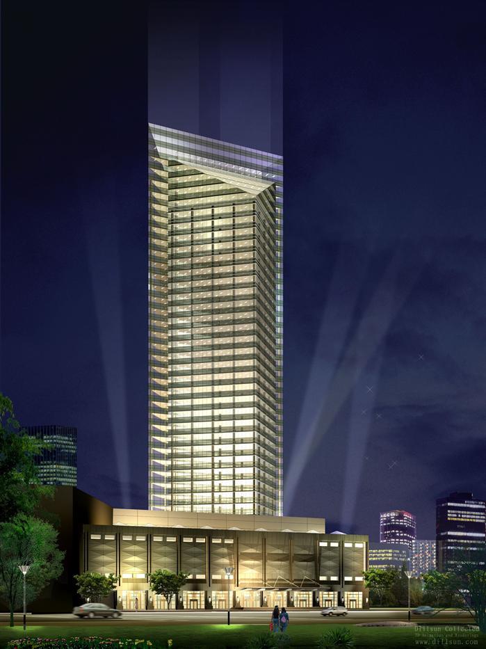 某现代高层办公及商业综合体建筑设计方案 含文本