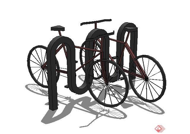 某自行车方案设计su模型素材(1)