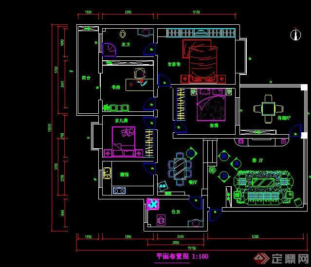 一套室内装修施工图 1高清图片
