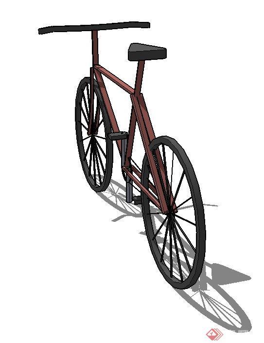 一个自行车SU素材模型(2)