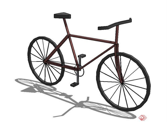 一个自行车SU素材模型(1)