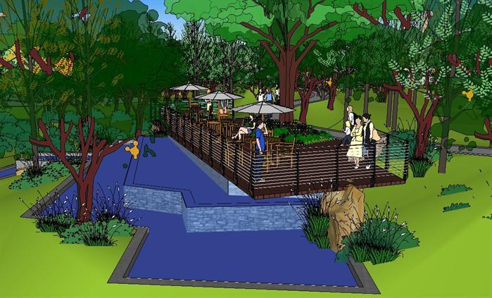 某现代小区主入口景观设计方案su 模型(1)