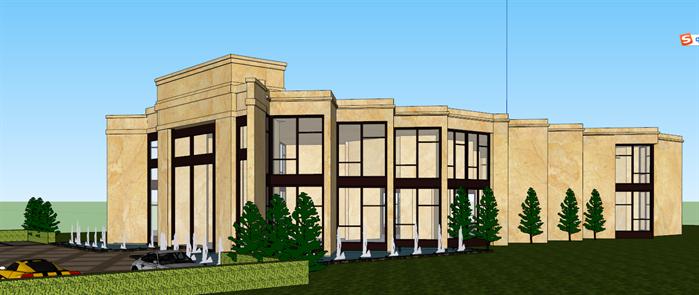 某欧式风格售楼部建筑设计su模型