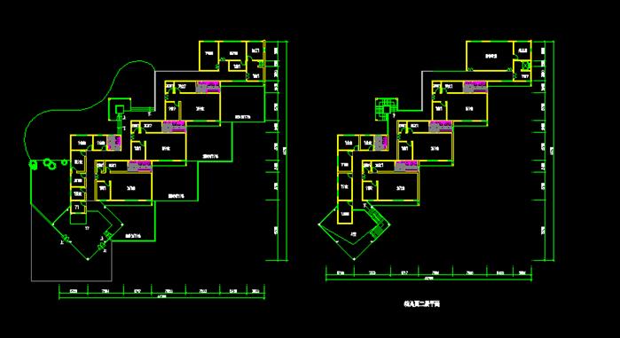 某简欧式幼儿园建筑设计方案su模型(含cad平面图)