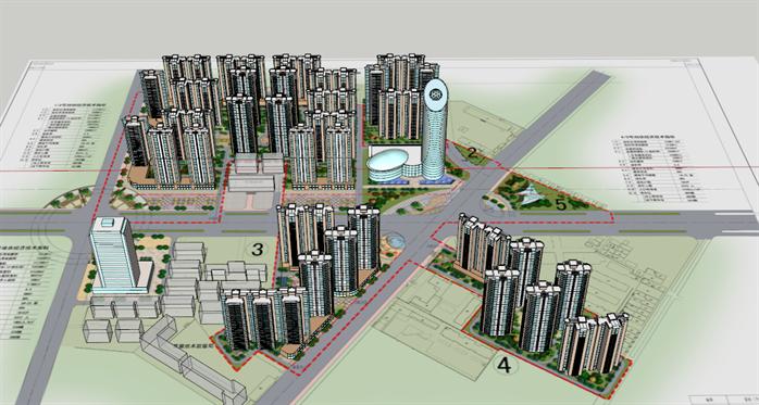 某现代城市规划设计方案su模型3 1