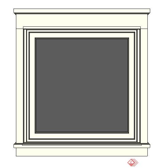 某现代窗户装饰设计方案su模型5(1)