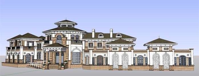 某欧式风格商业会所建筑方案设计su模型