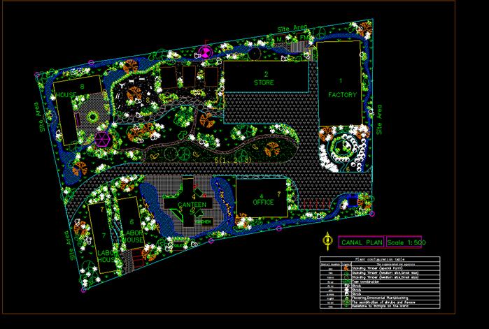 某现代风格广场小游园景观规划设计cad方案[原创]