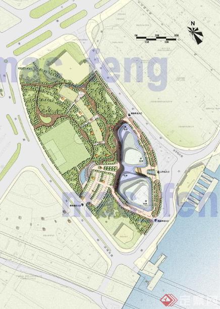 某现代风格商业环境景观规划设计方案平面图合集 1