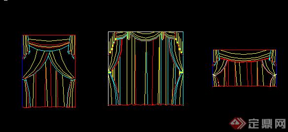 某现代风格窗帘布艺CAD素材设计图纸合集图片