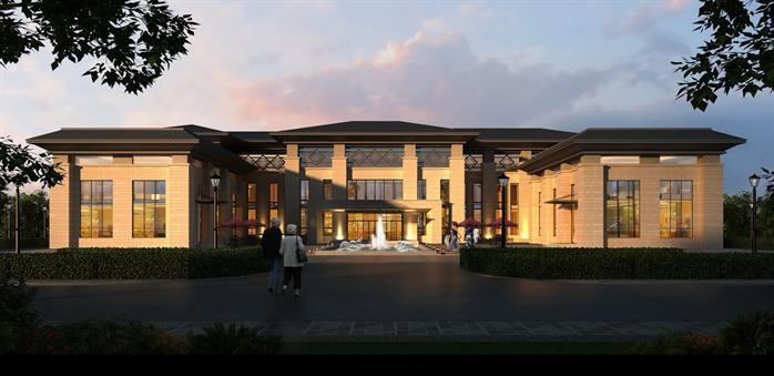 式风格旅游景区接待中心建筑方案设计SU模型