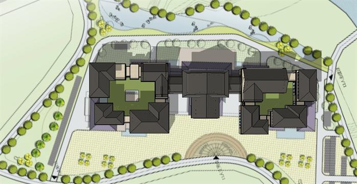 某东南亚风格度假酒店建筑设计方案su模型 2