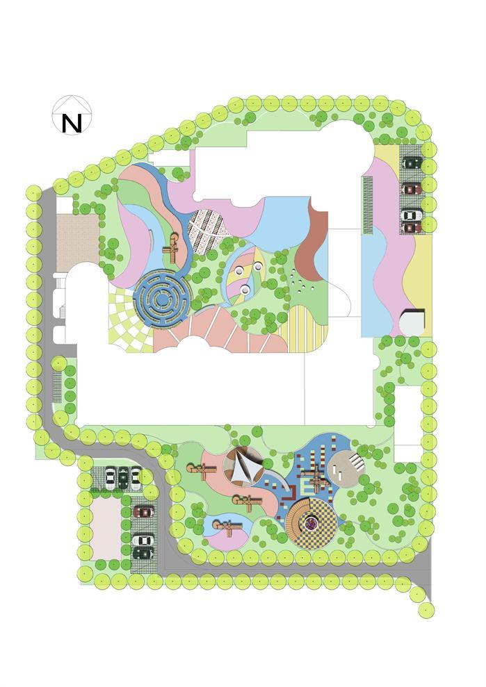 某现代风格幼儿园景观规划设计方案[原创]