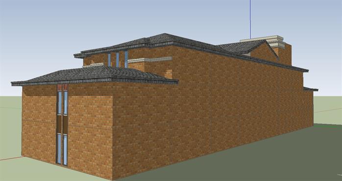 某简欧式风格商业会所建筑方案设计su模型
