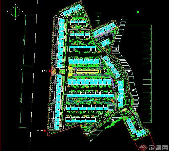 某居住小区建筑设计方案总平面图图片