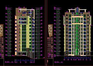 居小高层住宅楼建筑设计方案平面图图片