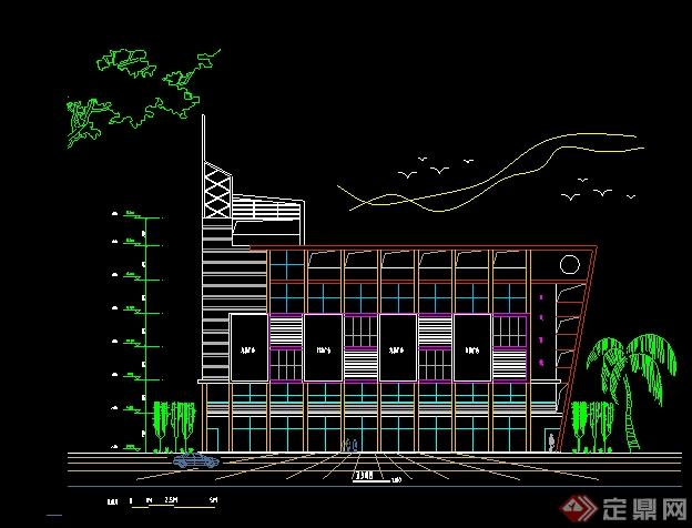 某商业建筑设计方案平面图