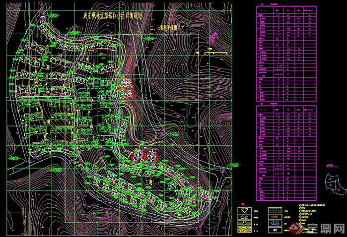 某居住小区详细的规划设计方案平面图图片