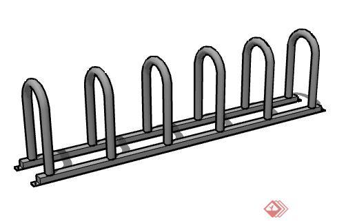 一个景观栏杆设计su模型素材
