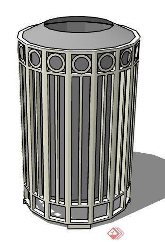 一个垃圾桶的设计su模型素材