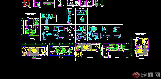 某現代風格賓館套房建筑方案設計cad圖紙