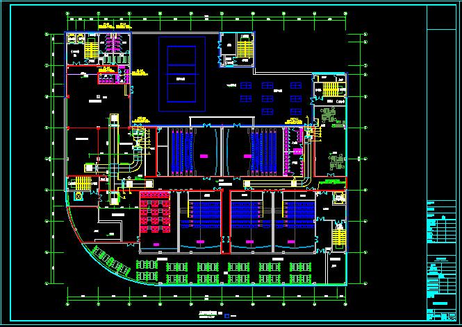 某商业建筑设计方案暖通图+平面图[原创]